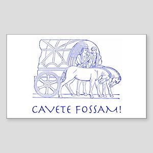 Fossa Rectangle Sticker 10 pk)