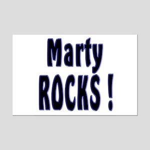 Marty Rocks ! Mini Poster Print
