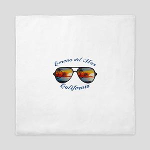 California - Corona del Mar Queen Duvet