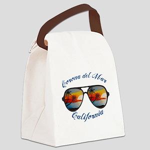 California - Corona del Mar Canvas Lunch Bag