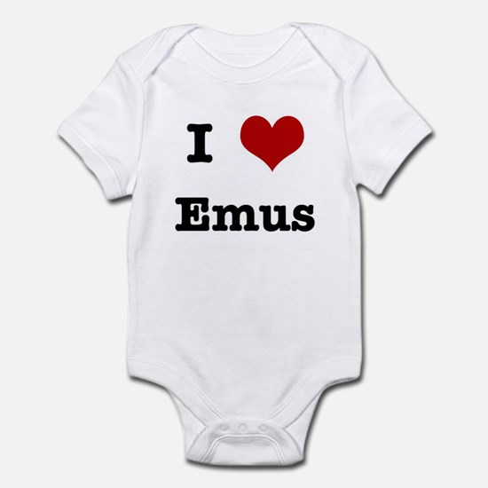 I love Emus Infant Bodysuit