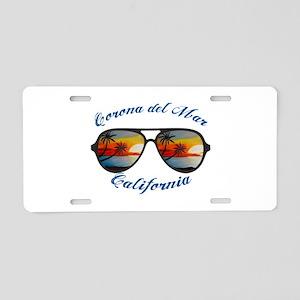California - Corona del Mar Aluminum License Plate