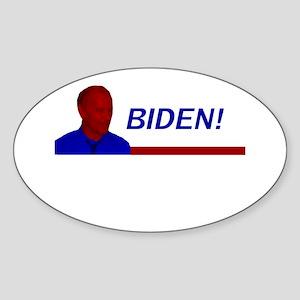 Biden! Red White and Blue Oval Sticker