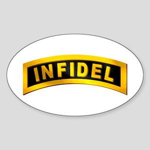 Infidel Tab Oval Sticker