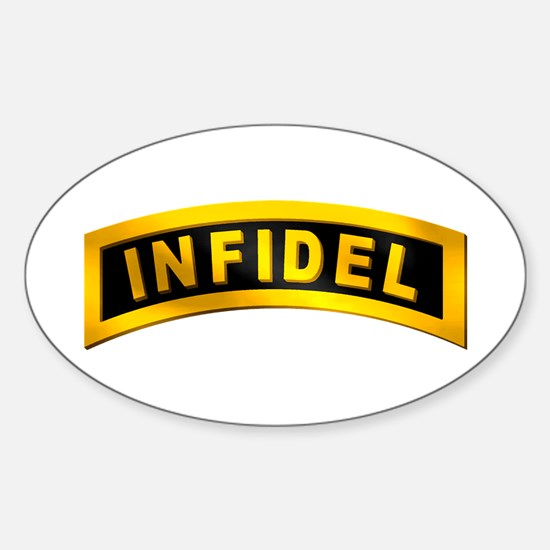 Infidel Tab Oval Decal