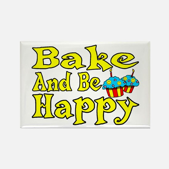 Bake And Be Happy Rectangle Magnet (100 pack)