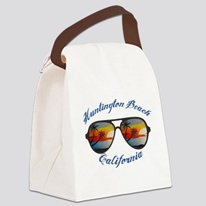 California - Huntington Beach Canvas Lunch Bag