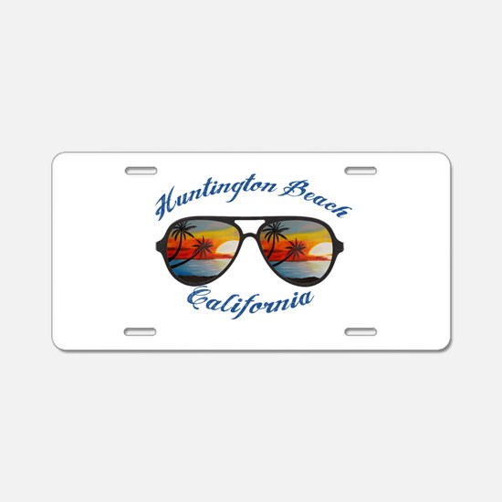 California - Huntington Bea Aluminum License Plate