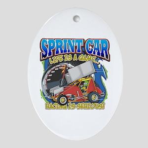 Sprint Car Life Oval Ornament