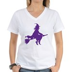 Halloween Witch Women's V-Neck T-Shirt