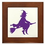 Halloween Witch Framed Tile