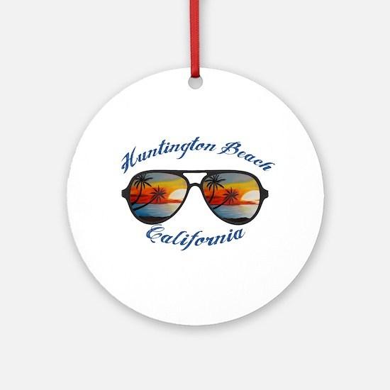 California - Huntington Beach Round Ornament