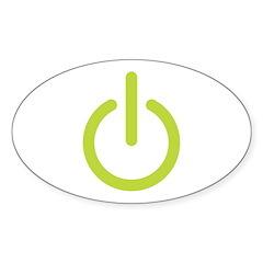 Power Symbol Oval Sticker (50 pk)