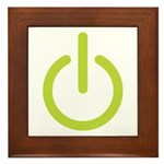 Power Symbol Framed Tile