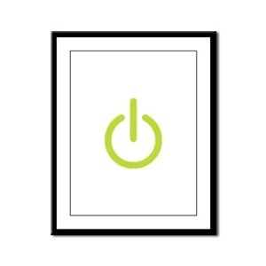 Power Symbol Framed Panel Print