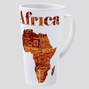Ethnic Africa 17 Oz Latte Mug