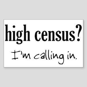 High Census Nursing Rectangle Sticker
