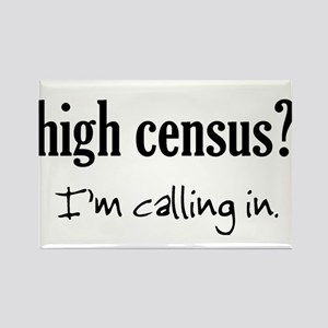 High Census Nursing Rectangle Magnet