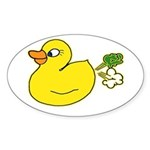 Farting Duck Sticker (Oval)