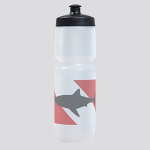 Diving Flag: Shark Sports Bottle