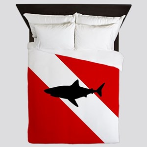 Diving Flag: Shark Queen Duvet
