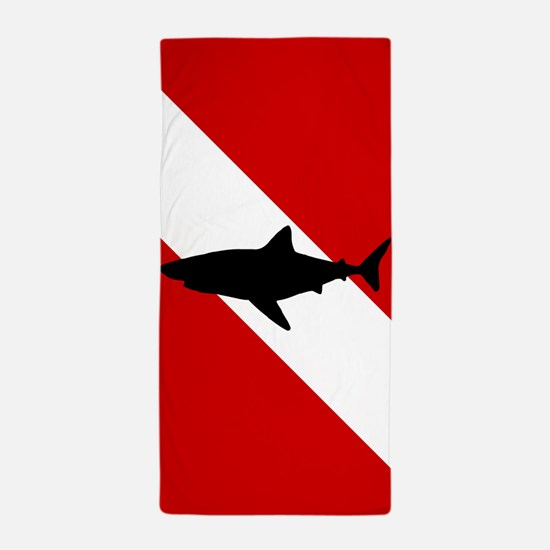 Diving Flag: Shark Beach Towel