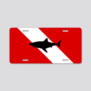 Diving Flag: Shark Aluminum License Plate
