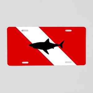 Diving Flag: Shark Aluminum License Plate