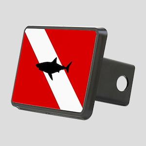 Diving Flag: Shark Rectangular Hitch Cover