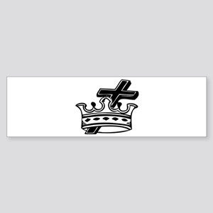 Cross and Crown Bumper Sticker