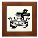 Cross and Crown Framed Tile
