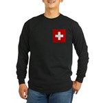 Swiss Cross-1 Long Sleeve Dark T-Shirt