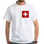 Swiss Cross-1 White T-Shirt