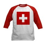 Swiss Cross-1 Kids Baseball Jersey