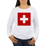 Swiss Cross-1 Women's Long Sleeve T-Shirt
