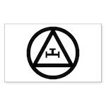 Triple Tau Rectangle Sticker 50 pk)