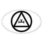 Triple Tau Oval Sticker