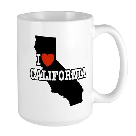 I Love California Large Mug