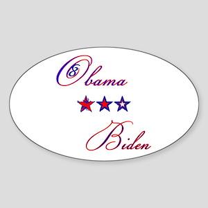 Obama-Biden Oval Sticker