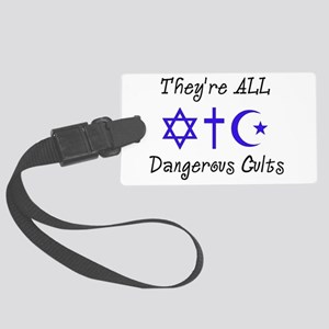 Dangerous Cults Large Luggage Tag