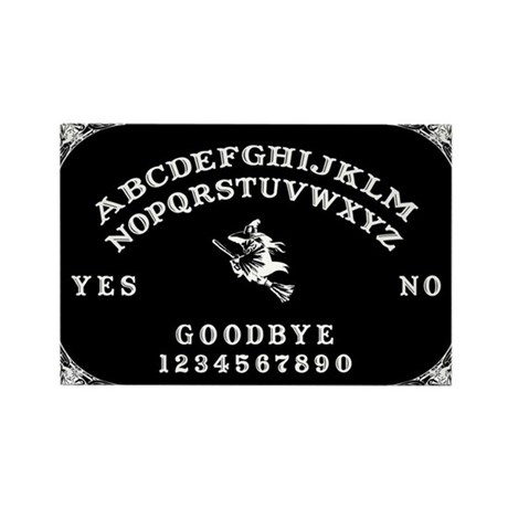 Witch Ouija Board Rectangle Magnet