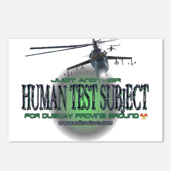 Human Test Subject Postcards (Package of 8)