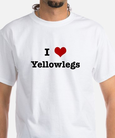 I love Yellowlegs White T-Shirt