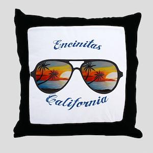 California - Encinitas Throw Pillow