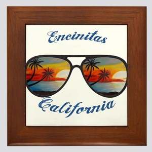 California - Encinitas Framed Tile