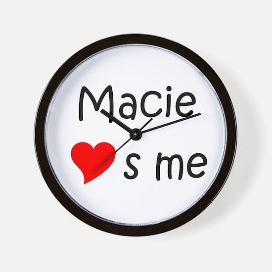 Funny Macie Wall Clock