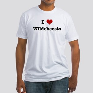 I love Wildebeests Fitted T-Shirt