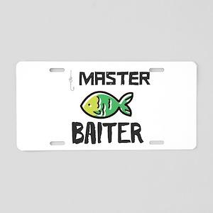 Master Baiter Aluminum License Plate