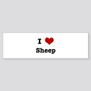 I love Sheep Bumper Sticker