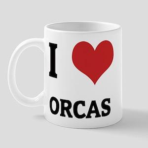 I Love Orcas Mug